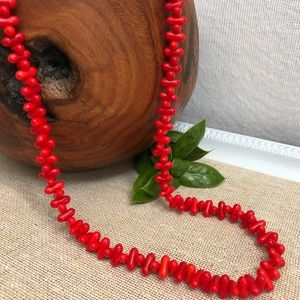 Vintage Tic Tac Glass Beaded Necklace